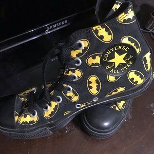 Black and yellow Batman Converse